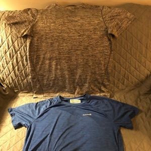 Set of 2 men's large quick dry athletic tees